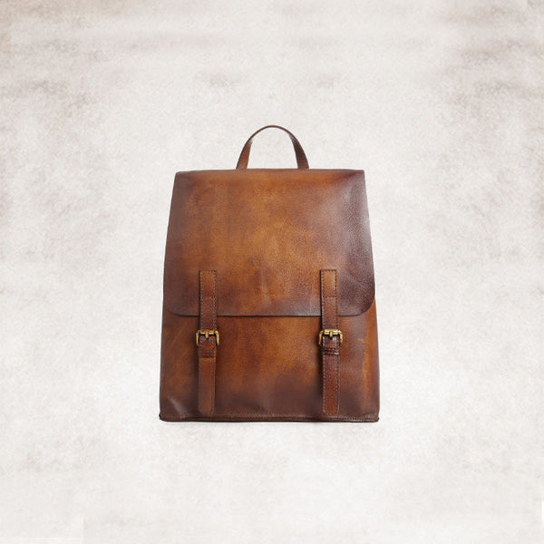 vintage leather backpack bag women