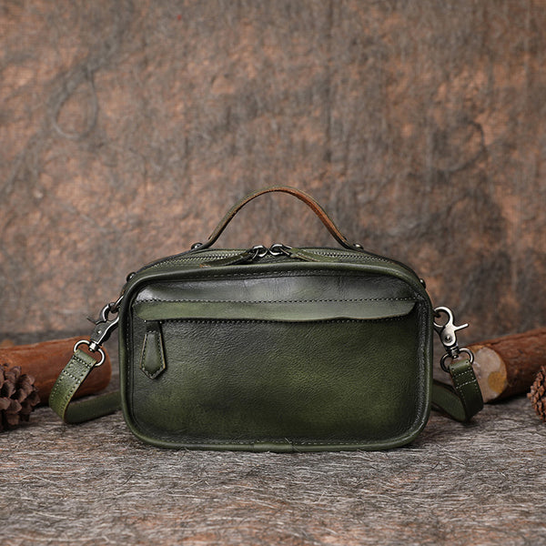 Green Leather Crossbody Bags Shoulder Bag Purses for Women