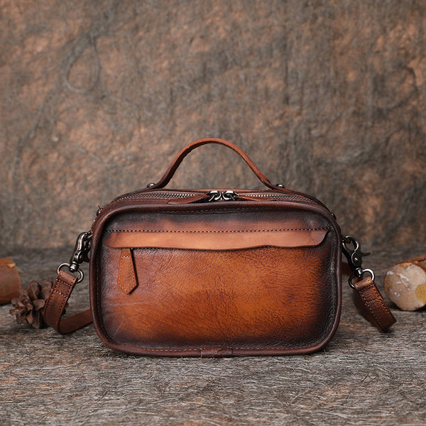 Brown Leather Crossbody Bags Shoulder Bag Purses for Women