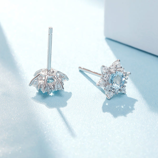 womens March Birthstone Jewelry Aquamarine Earrings for women chic