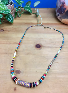 Extra Long Badu in Desert Hues with African Center Bead