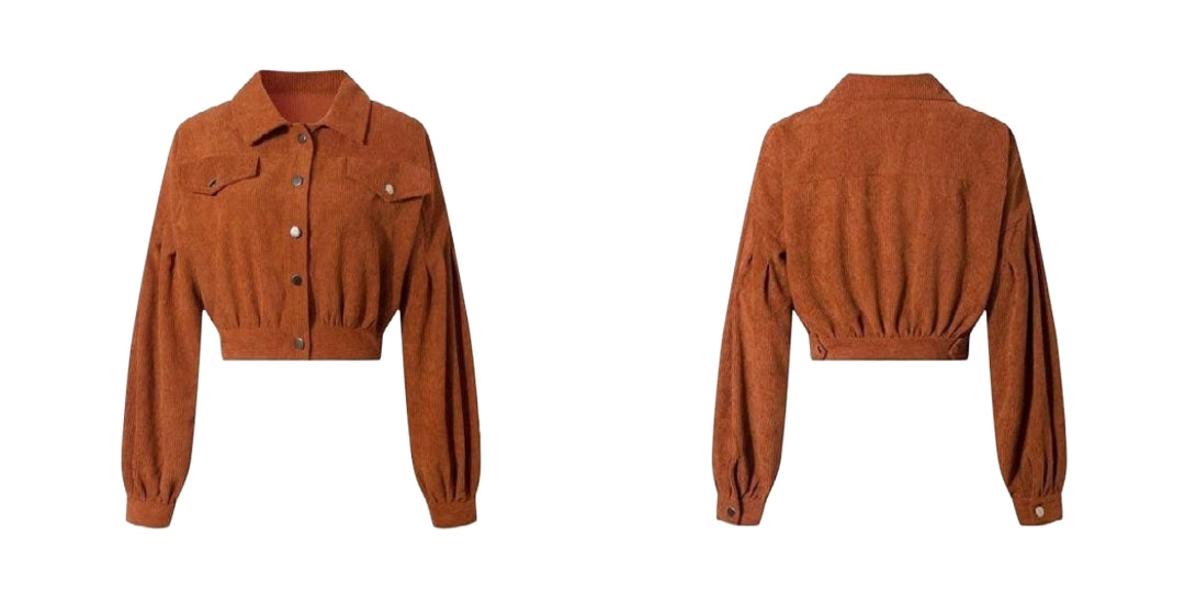 Lightweight Corduroy Crop Jacket