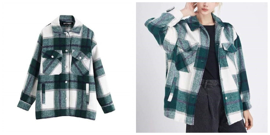 90s Plaid Jacket