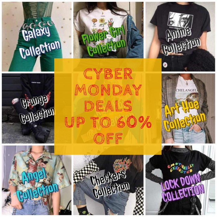 cyber monday aesthetic fashion deals