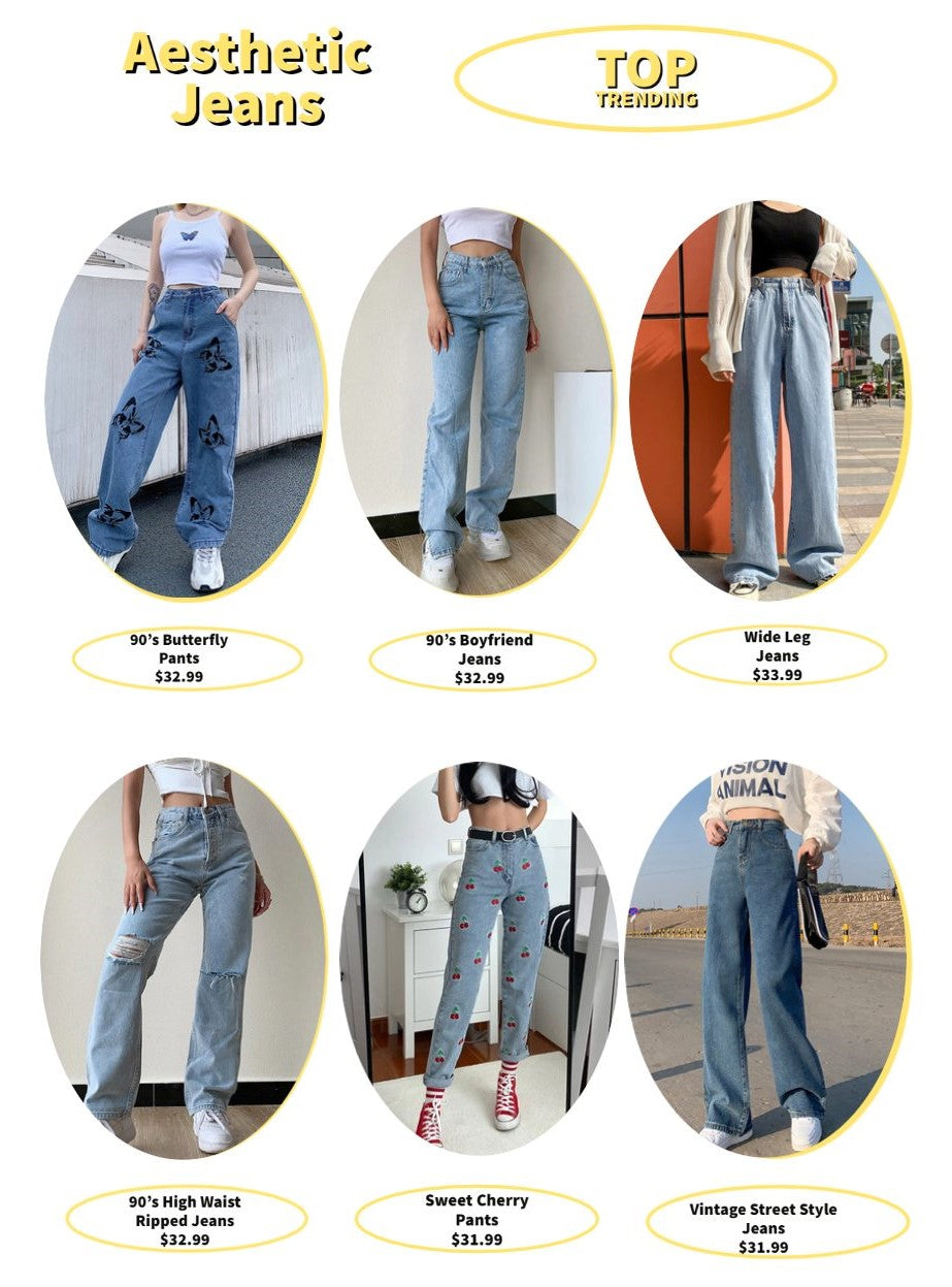 aesthetic jeans