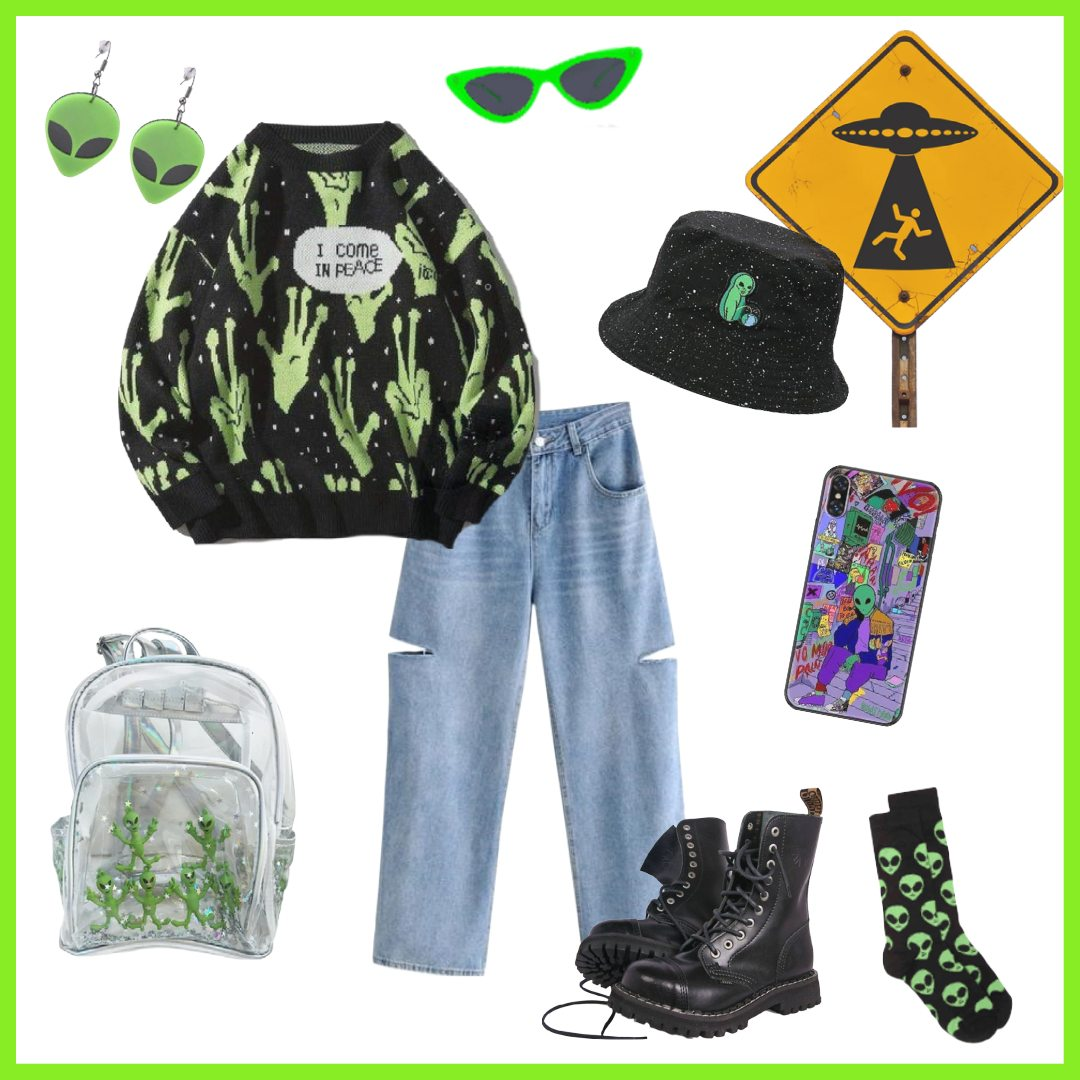 aesthetic alien outfit