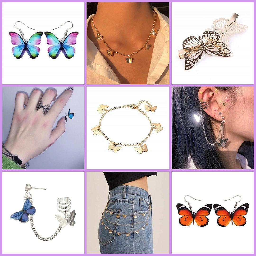 aesthetic butterfly jewelry