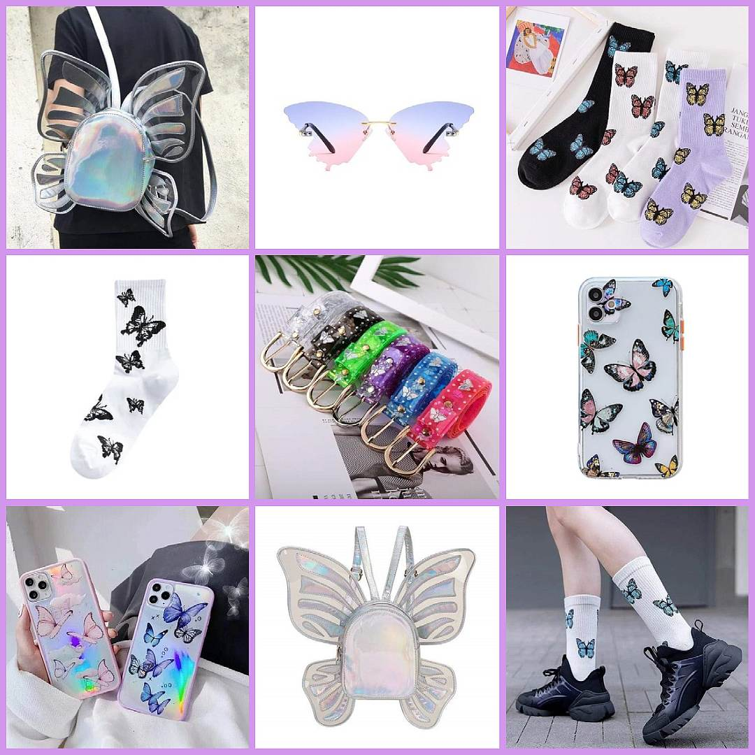aesthetic butterfly accessories