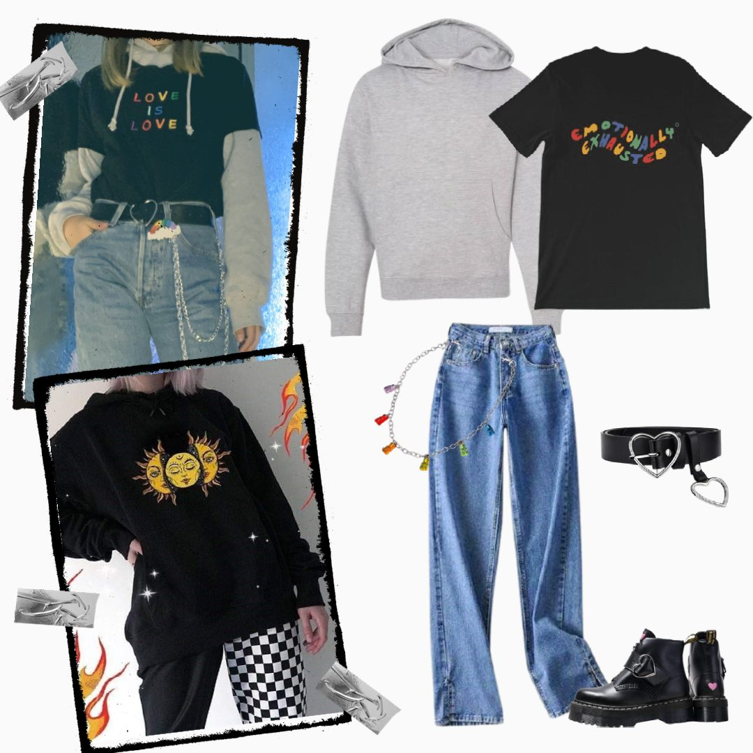 aesthetic hoodie outfits
