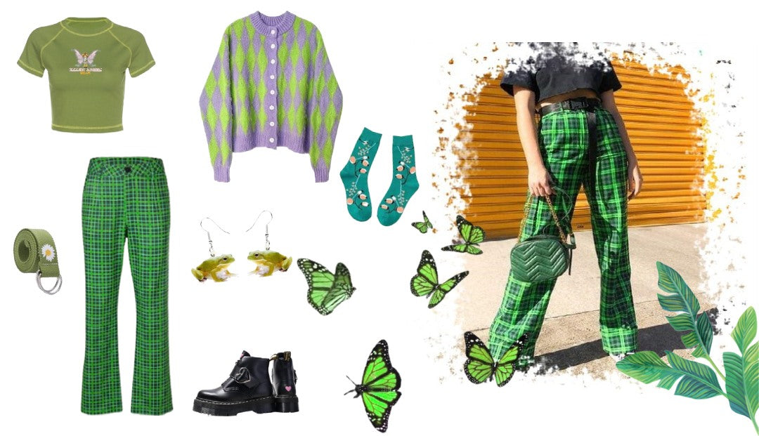 green aesthetic outfit