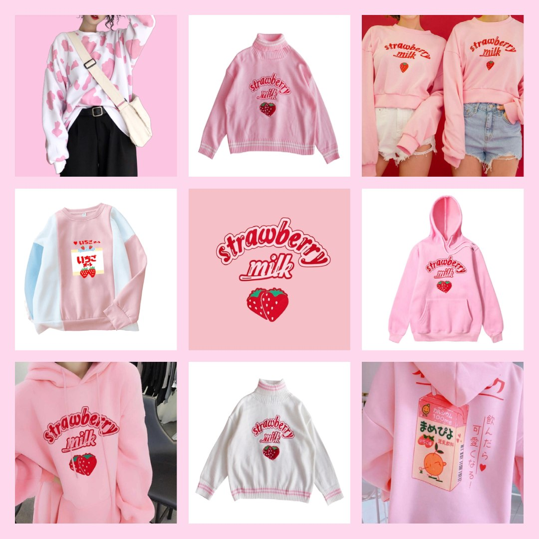 strawberry milk hoodies, jumpers and sweaters