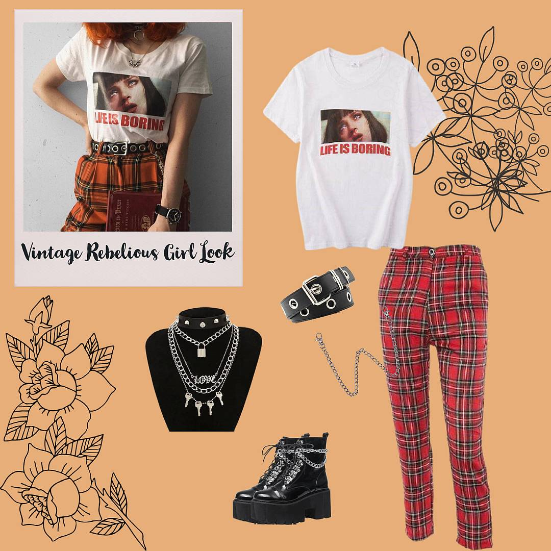 aesthetic vintage outfit