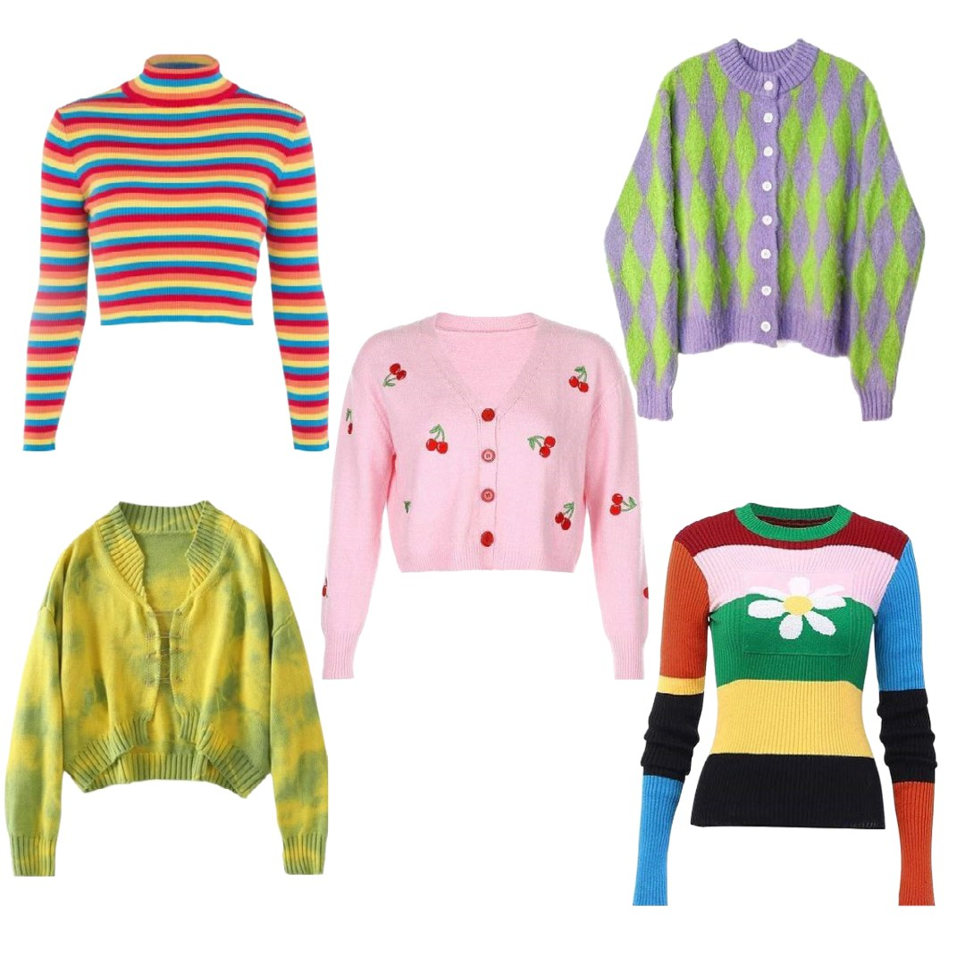 y2k cardigans and sweaters