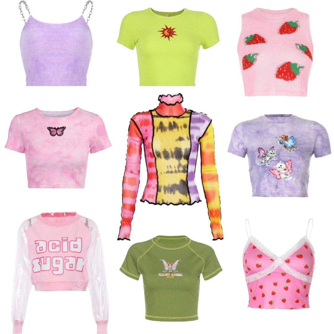 y2k tops and t-shirts