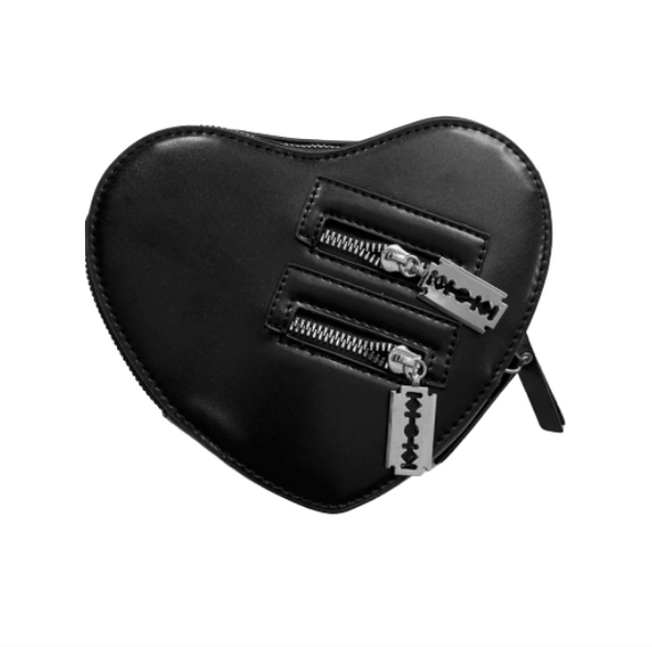 Black Heart Crossbody Bag - All Things Rainbow