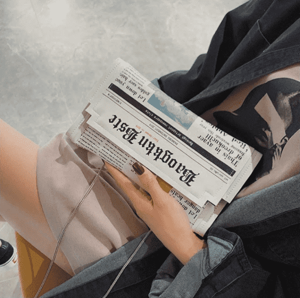 Newspaper Handbag - All Things Rainbow