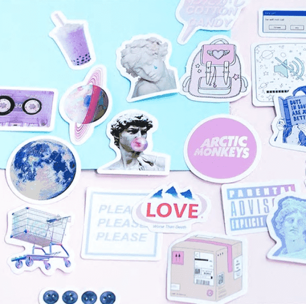Vaporwave Aesthetic Stickers - All Things Rainbow