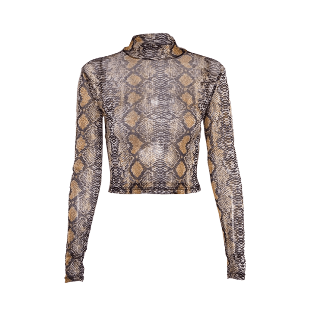 brown Snake Skin Top