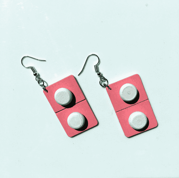 Wooden Pills Earrings - All Things Rainbow