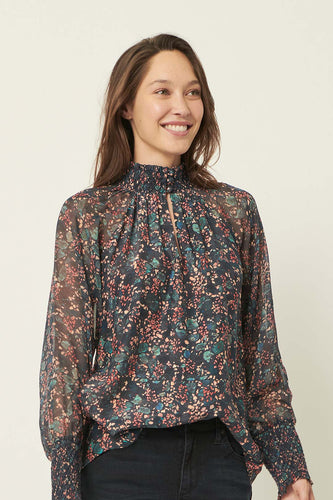 The Dreamer Label Calla Forestry Silk Blouse