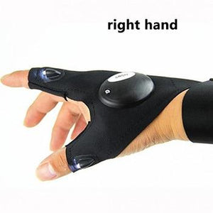 LED FINGERLESS FLASHLIGHT GLOVE - LEFT OR RIGHT