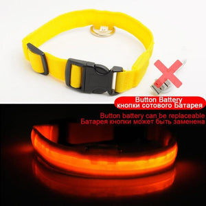 Adjustable LED Dog Collar to Keep Dogs Safe
