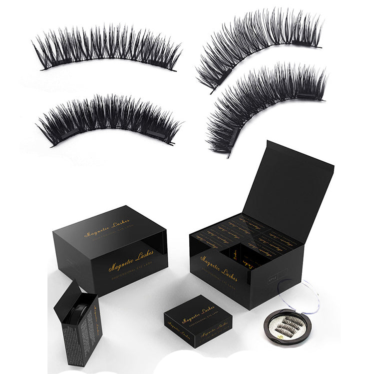 3D Magnetic eyelashes with 4 magnets handmade