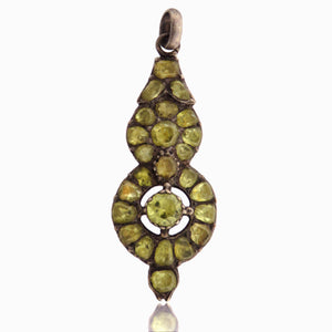 Sterling Silver and Chrysoberyl Pendant c. 18th Century