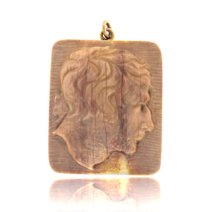Fossilized Bone Cameo of Napoleon c. Early 1800's