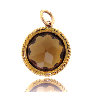 9ct Edwardian Whisky Citrine Pendant