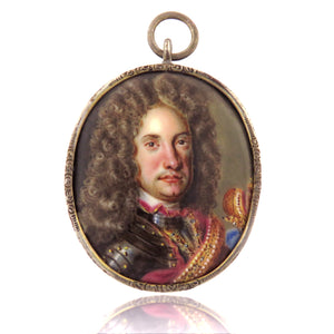 Late 17th Century Gentleman Portrait Pendant