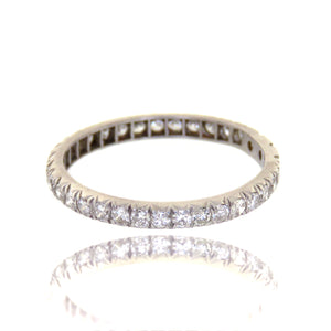 Platinum 1.20ctw Diamond Eternity Band