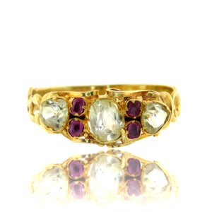 15ct Gold Chrysoberyl and Ruby Ring