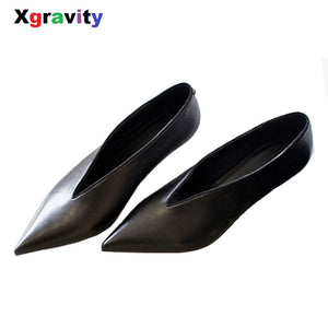 XGRAVITY Pointed Toe Woman Shoes