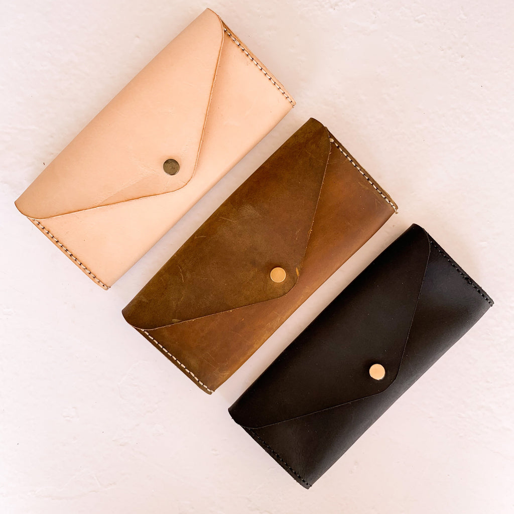 3 Cash Leather Envelope System & Clutch