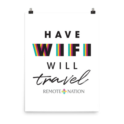 Have wifi will travel. Poster