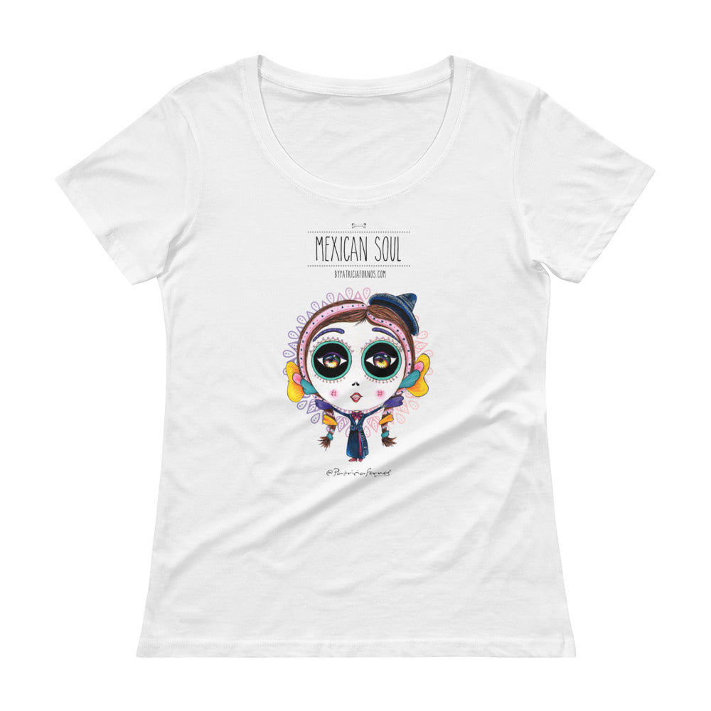 Mes Soul Colorful Ladies' Scoopneck T-Shirt