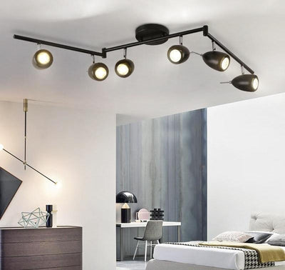 Modern Simple Rotatable LED Ceiling Lights Lustre Metal Ceiling Lamp-Ceiling Lights-Raypom