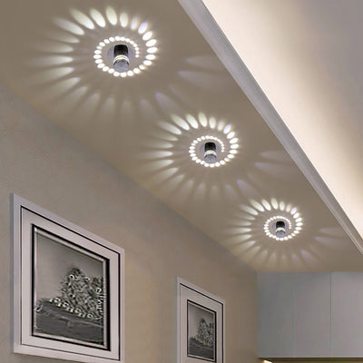 Modern LED Ceiling Light 3W RGB Wall Sconce Front Balcony Lamp Porch Light-Ceiling Lights-Raypom