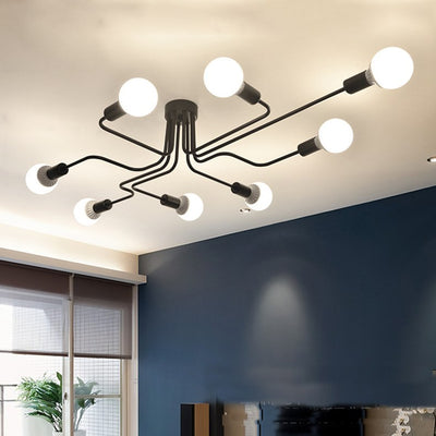 Modern Pendant Lights Hanging Vintage Multiple Rod Wrought Iron Ceiling Lights-Ceiling Lights-Raypom