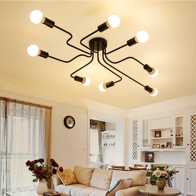 Vintage Ceiling Lights Iron Personality Ceiling Lights for Living & Bed Room-Ceiling Lights-Raypom
