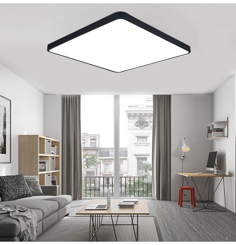 Ultra-thin Square LED Ceiling Lamp Kitchen Light Fixtures Living Room  Surface Mount
