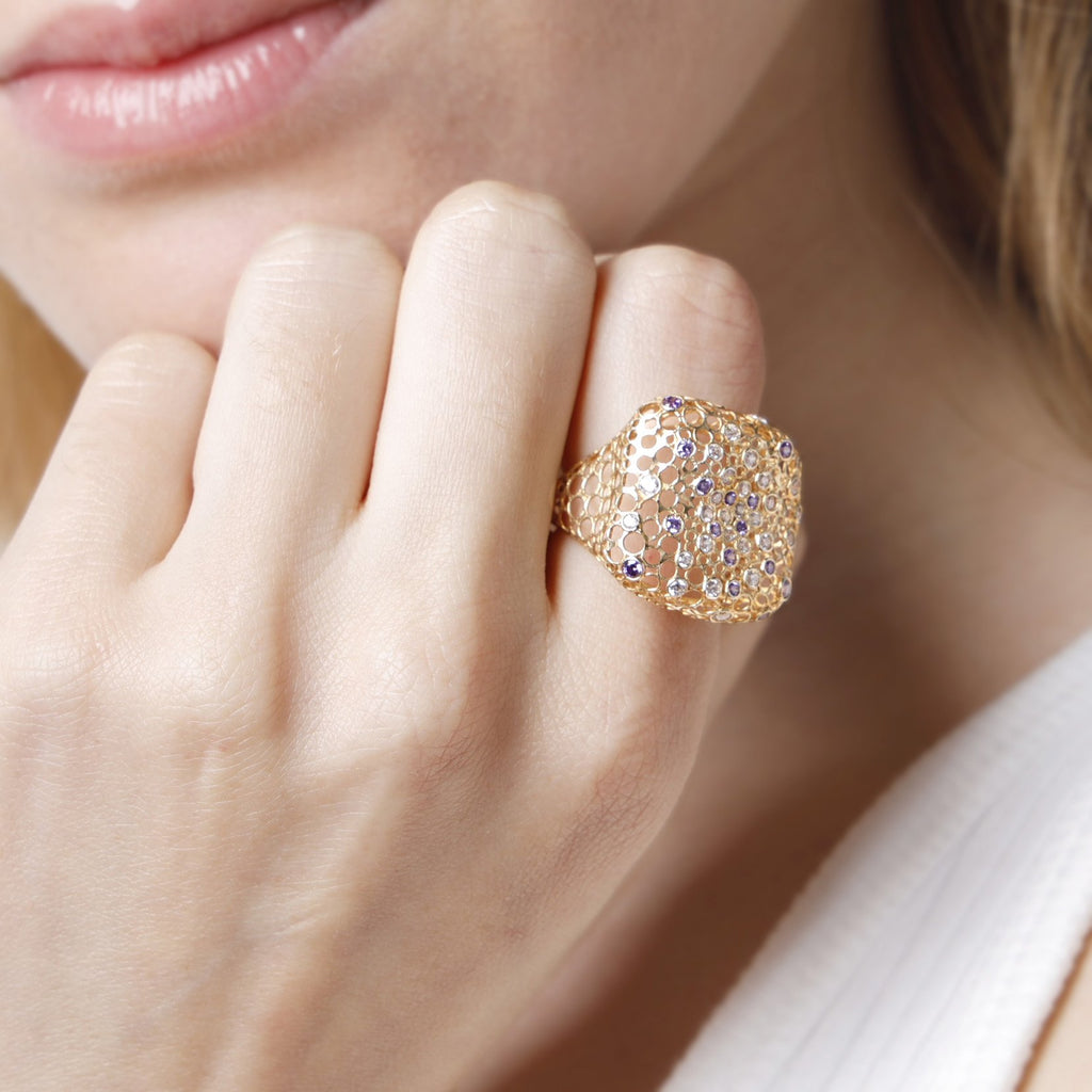 Sparkle Geometric Ring