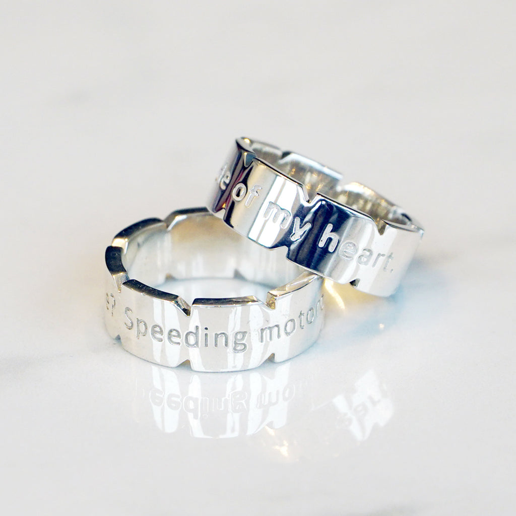 Two Silver Custom Rings