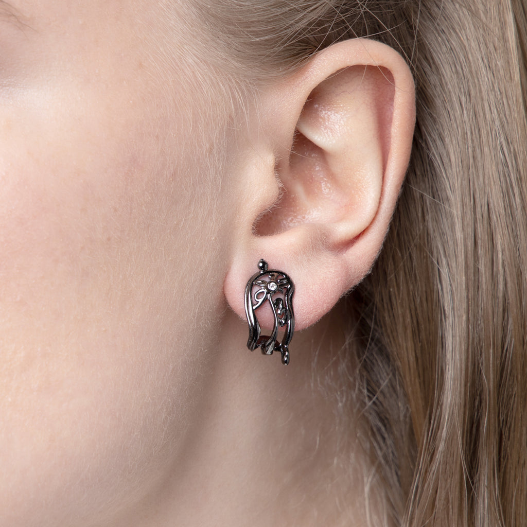 Melting Clock Earrings by Vulcan Jewelry