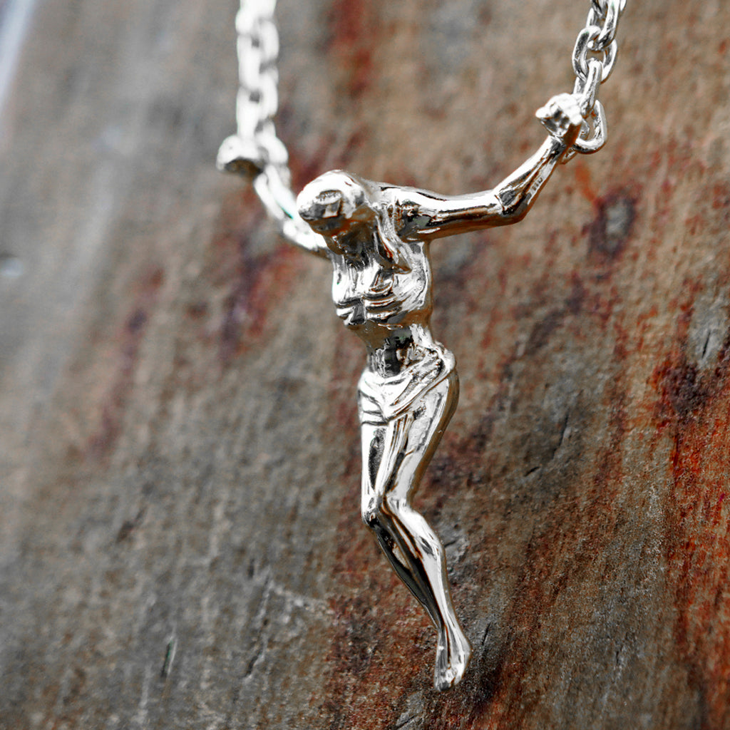 Silver Crucifix Necklace by Vulcan Jewelry