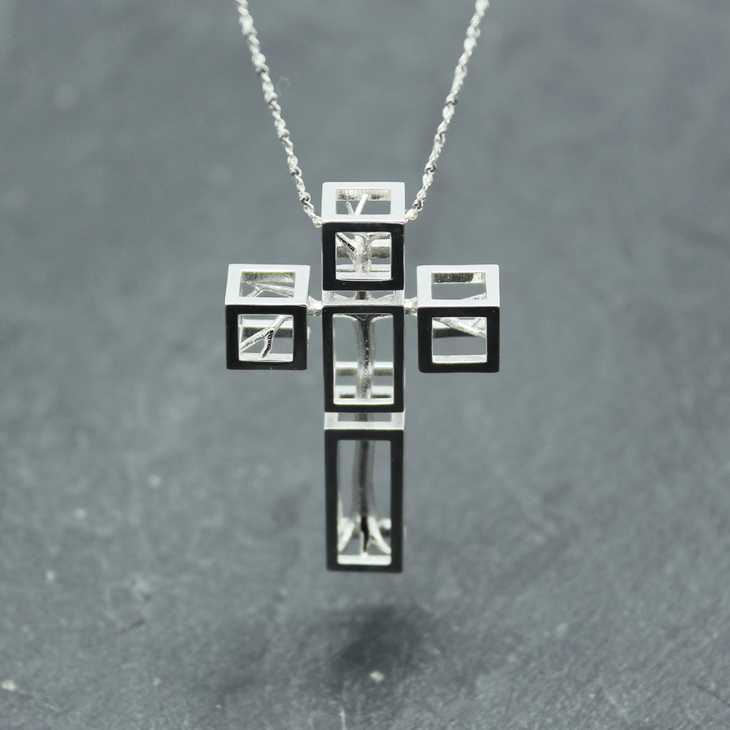 Tree in Cross Necklace by Vulcan Jewelry