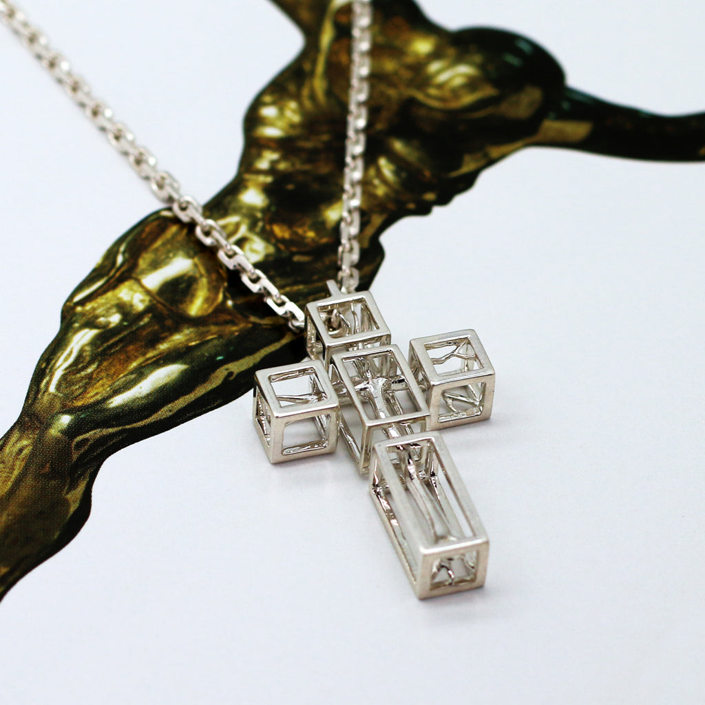 Tree in Cross Necklace for men by Vulcan Jewelry