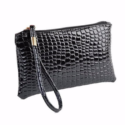 Women Wallet Purse Handbag Womens Crocodile PU Turquoise Chloe