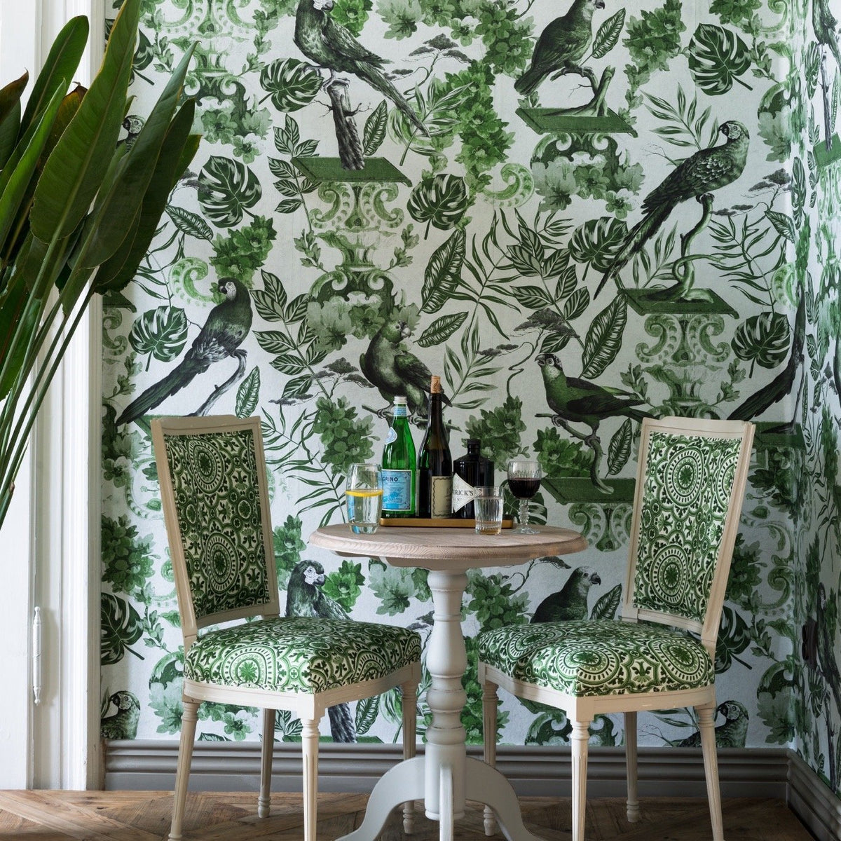 The Joyful Wallpaper Company WALLPAPER La Voliere Green Wallpaper by Mind The Gap